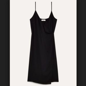 ARITZIA BABATON Neval black wrap dress xxs